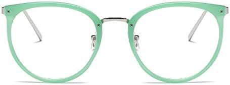 Amomoma Women's Fashion Round Eyeglasses Optical Frame Clear Lens Eyewear AM5001
