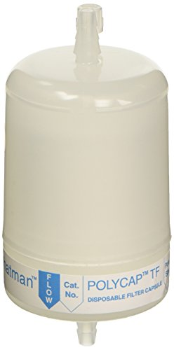 Whatman 4651B47EA 6700-7501 Polycap TF 75 PTFE Membrane Capsule Filter with SB Inlet and Outlet, 60 PSI Maximum Pressure, 0.1 μm by Whatman
