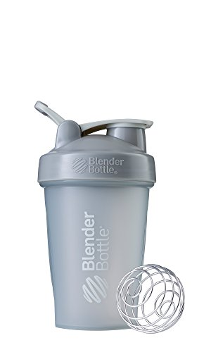 BlenderBottle Classic Loop Top Shaker Bottle, 20-Ounce, Pebble Grey