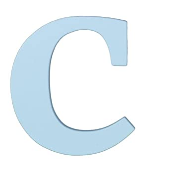 wooden letter c hanging initials