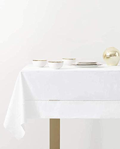 70x126 Tablecloth Fennco Styles Classic Hemstitched Border Tablecloth COMINHKPR132677