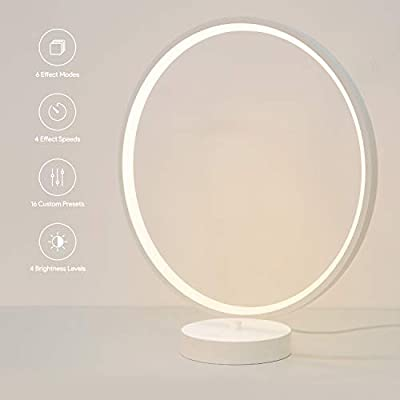 AUKEY Nightstand Lamp, Dimmable Aura Light with Remote Control, 6 Lighting Modes, 4 Lighting Speeds, and Lighting Memory Function from AUKEY