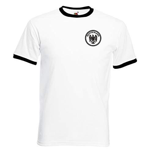 Invicta Screen Printers Germany Deutschland Deutsch Camiseta Retro Alemana del Equipo de fútbol de Alemania