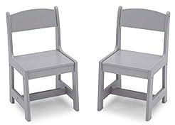 Delta Children MySize Wood Kids Chairs f...