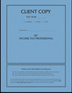 EGP Client Copy Side Staple Tax Cover by EGPChecks