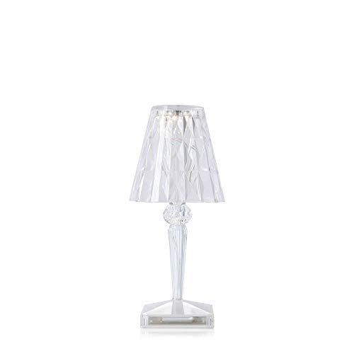 Kartell Battery portable and rechargeable transparent crystal table lamp