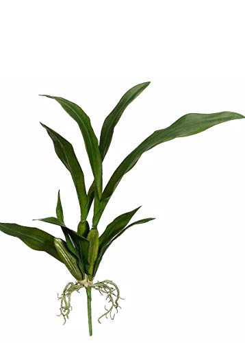 Floral Home Artificial Oncidium Orchid Leaves Plant - 23