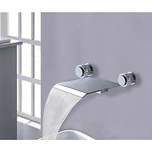 OXOX dos asas generalizada baño mezclador cascada palangana grifo de la bañera grifos grifo de lavabo romano (r-2006a001)