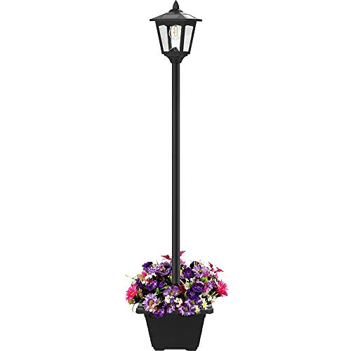 Outdoor Lamp Post With Planter in US - 4