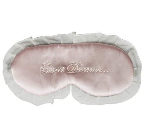 (Fenlm Natural Silk Creative Sleep Eye Mask Sleeping Eyes Cover Eyeshade with Lace Border (Sweet Dreams))