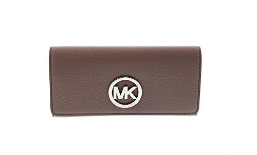 Michael Kors Fulton Carryall Wallet Cinder Leather Clutch Bag