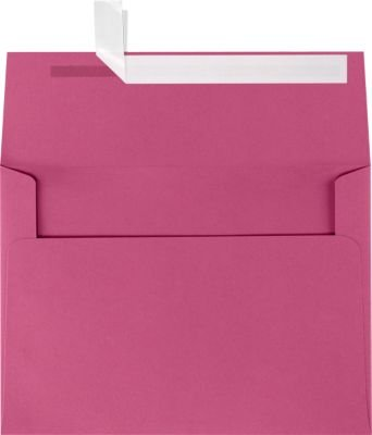 A7 Invitation Envelopes w/Peel & Press (5 1/4 x 7 1/4) - Magenta Pink (50 Qty) | Perfect for Invitations, Announcements, Sending Cards, 5x7 Photos | Printable | 80lb Paper | EX4880-10-50