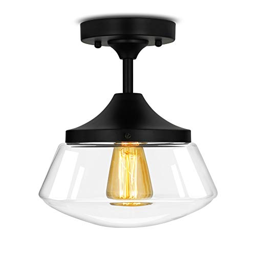 - Industrial Semi-Flush Mount Ceiling Light, 10