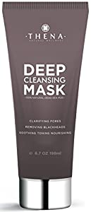 Organic Pure Dead Sea Mud Facial Mask For Deep Pore Cleansing, Best Blackheads Remover Pore Minimizer Reducer Purifying Face Mask Men Women, Anti Aging Wrinkle Lines Acne Treatment, Natural Skin Care