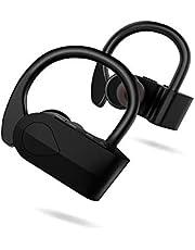 Auriculares Bluetooth Deportivos, LXT Audífonos Inalámbricos con micrófono Estéreos de Alta Fidelidad Bajos Profundos a Prueba de Sudor para iPhone, Xiaomi,Samsung y Otros Teléfonos Móviles Android