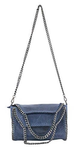 Bleu à OH MY souple Sac femme en main BAG cuir bandoulière Tv441wAq