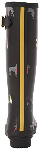 Dogs Black Mujer Botas Tom Print Agua Black Welly de Joule Cosy FTqwnOv61