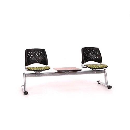 UPC 811588018505, OFM 323T-MNKA-MHGY Elements Stars 3-Unit Beam Seating with 2 Seats & 1 Table - Manuka & Mahogany