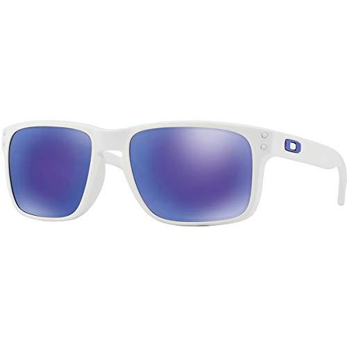 Oakley Holbrook Sunglasses, Matte White Frame/Violet Iridium Lens, One ()
