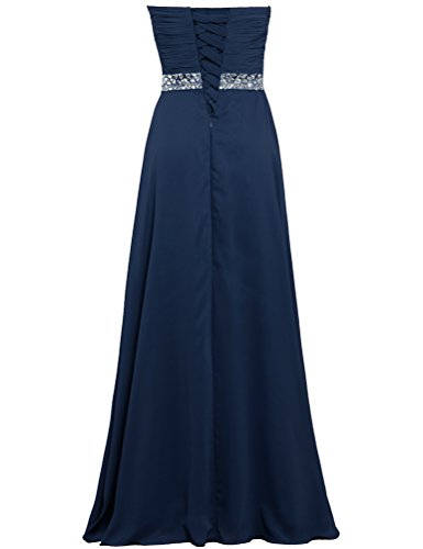 Prom Gown Dresses Party Navy ANTS Chiffon Wedding Women's Long pHnqCUTf