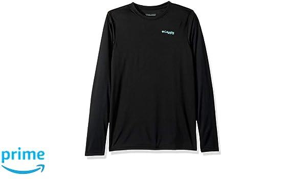 009dcf6b39d Columbia PFG Silhouette Series/ Long Sleeve Shirt Large Black Bass Columbia  /(Sporting Goods