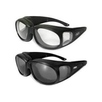 636387ab9f 2 Motorcycle Safety Sunglasses Fits Over MOST Rx Glasses Smoke and Clear  Day   Night Usage Meets ANSI Z87.1 Standards For Safety Glasses Has Soft  Airy Foam ...