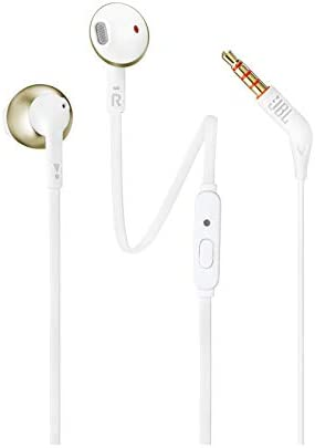 78f38f6756f JBL T205 Pure Bass Metal Earbud Headphones with Mic: Amazon.in ...