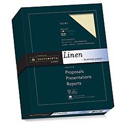 Laser Sheet Stationery - Southworth Fine Linen Paper, Size 24, Ivory, 500 Sheets (564C)