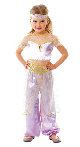 Girls Arabian Princess of The Desert Jasmine Book Day Carnival International Fancy Dress Costume Outfit 5-12 (5-6 Years) Purple -