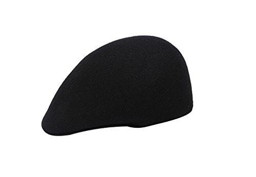 Laine Béret Pour Elégant amp; En Chaud Hiver Bonnet Noir Automne Mode Chapeau Feutre Casquette Femme Acvip Fille 5TqfOYwA