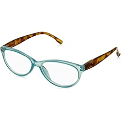 Peepers Women's Birds Of Paradise 2248125 Cateye Reading Glasses, Teal, 1.25