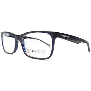 Tag Heuer B Urban 0554 Rectangle Unisex Comfortable Eyeglasses Frames (Dark Blue / Black, 56)