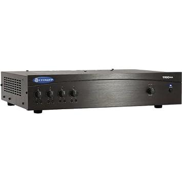 Crown 1160MA 4.0 Hogar Alámbrico Negro - Amplificador de audio (4.0 canales, 0,