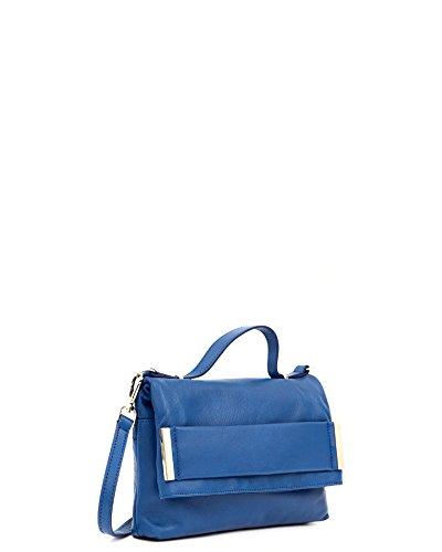 Aïta - Cartera piel, medidas 28 x 18 x 5 cm, color azul ...