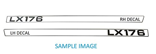 Kumar Bros USA New LH & RH Upper Hood Decal Set Replaces M116036 M116037 Fits John Deere LX176 by Kumar Bros USA