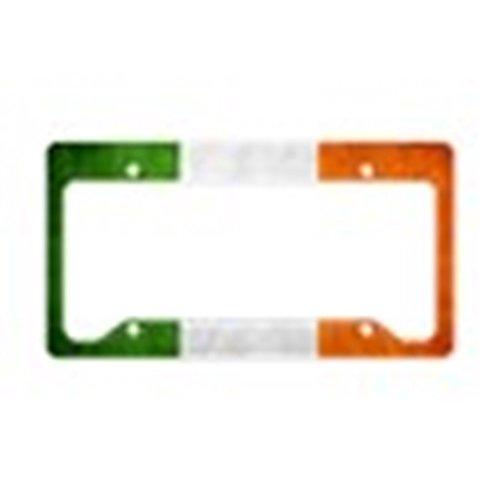 (CafePress Irish_Flag_Banner_4W Aluminum License Plate Frame, License Tag Holder)