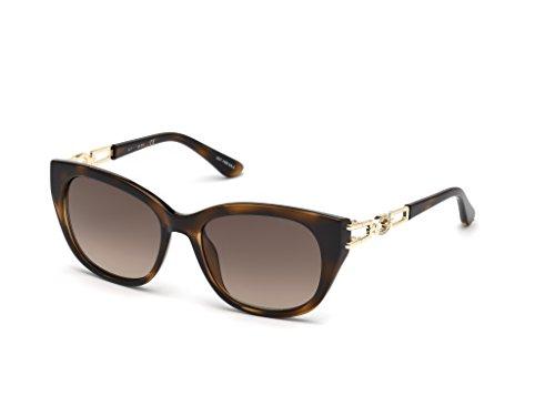 GUESS Women's Gu7562 Square Sunglasses, Dark Havana & Gradient Brown, 55 (Guess Prescription Sunglasses)
