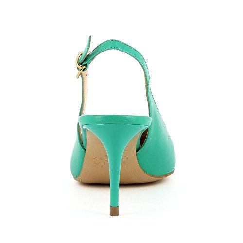 Lisse Vert Cuir Sling Escarpins Shoes Evita Giulia qxw7aTH4