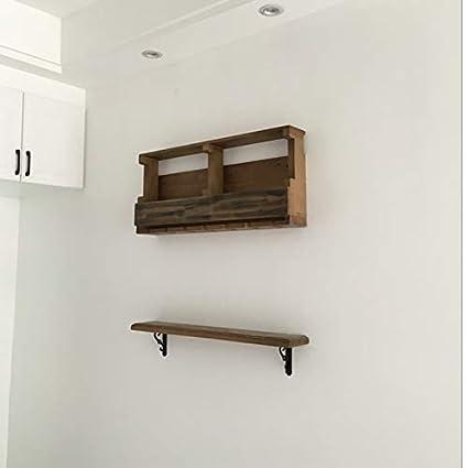 VINE SHELF HOME Estante de madera maciza para colgar en la pared estante para vinos Estante