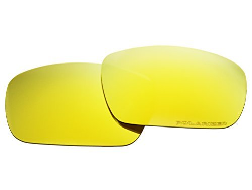 Polarized Replacement Sunglasses Lenses for Oakley Fuel Cell with UV Protection(Golden Yellow Mirror)