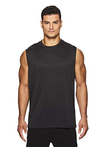 HEAD Mens Power Polyester Gym Training & Workout Muscle Tank - Sleeveless Activewear Top