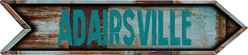 """Any and All Graphics ADAIRSVILLE 8"""" Arrow Shaped Rustic Antique Vintage City Name Vinyl Decal Sticker"""