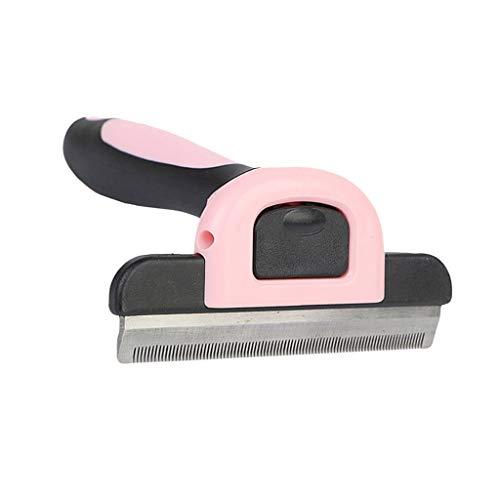 Baoblaze Pet Dog Cat Hair Grooming Brush Comb Razor Fur Hairdressing Shaving Trimmer Rake - Pink, S