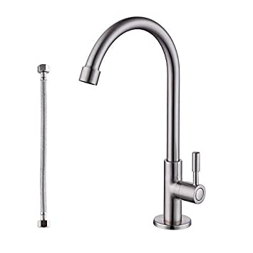 Kes Lead Free Kitchen Sink Faucet For Cold Water Only Single Handle