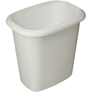 Rubbermaid Vanity Trash Can Wastebasket 6.0 quarts, 1.5 Gallon, White, (FG295300WHT)