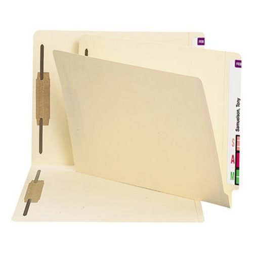 Smead 34125 Heavyweight Folders Two Fasteners End Tab Letter 11 Point Manila 250/Box