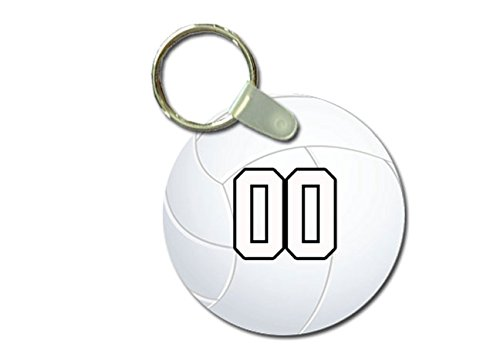 Sports Key Tag Volleyball Player Any Number