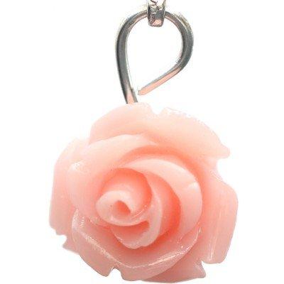 (Pink Rose Dangle Charm)
