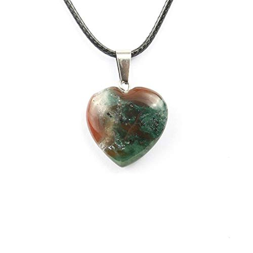 Natural Stone Pendant   Heart Shape Crystal Agate Necklace Necklace Pendants 206mmm