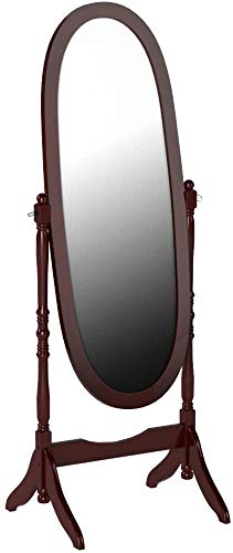 Roundhill Furniture Traditional Queen Anna Style Wood Floor Cheval Mirror, Cherry Finish by Roundhill Furniture